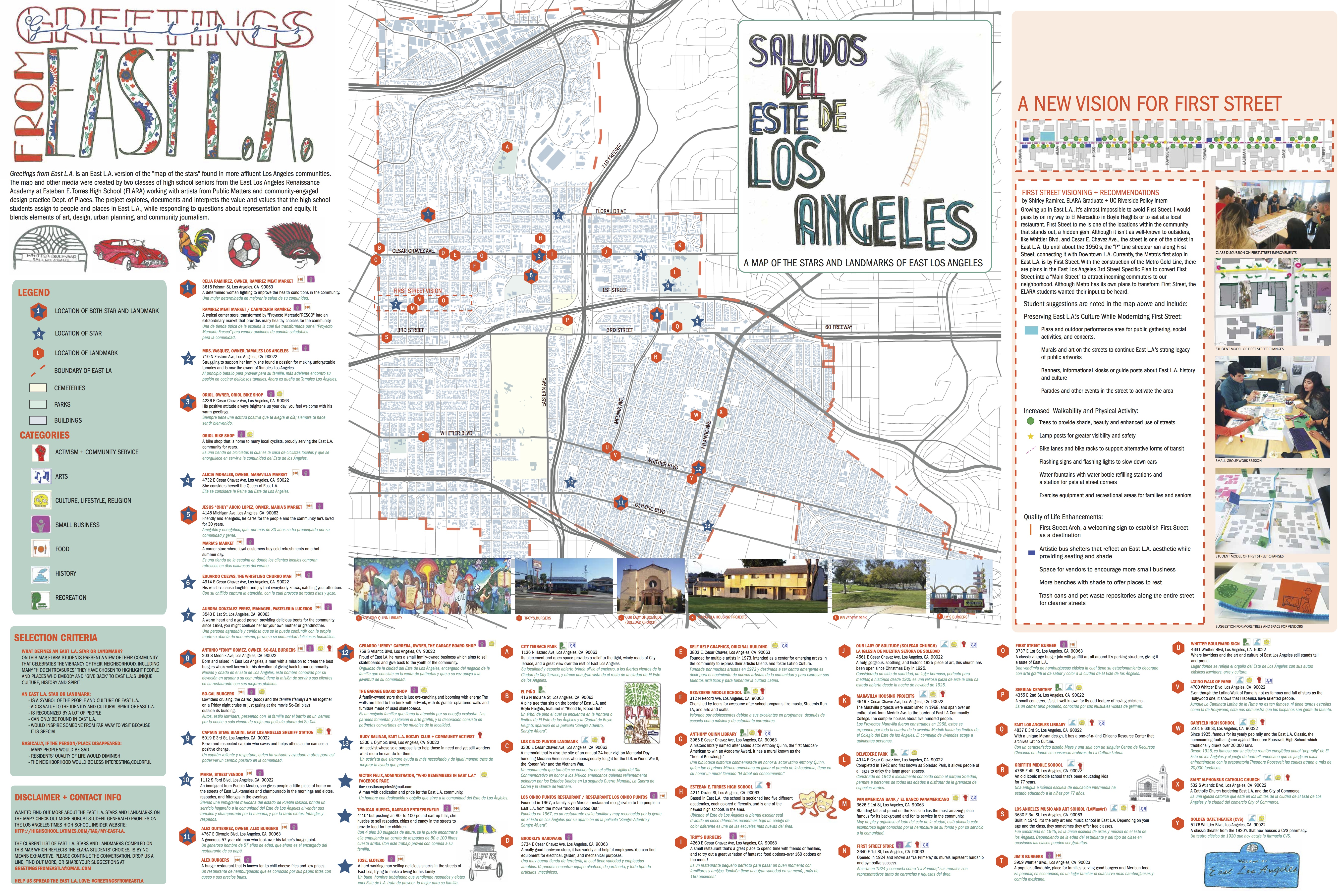 Public Matters Greetings From East LA - Los angeles map to the stars