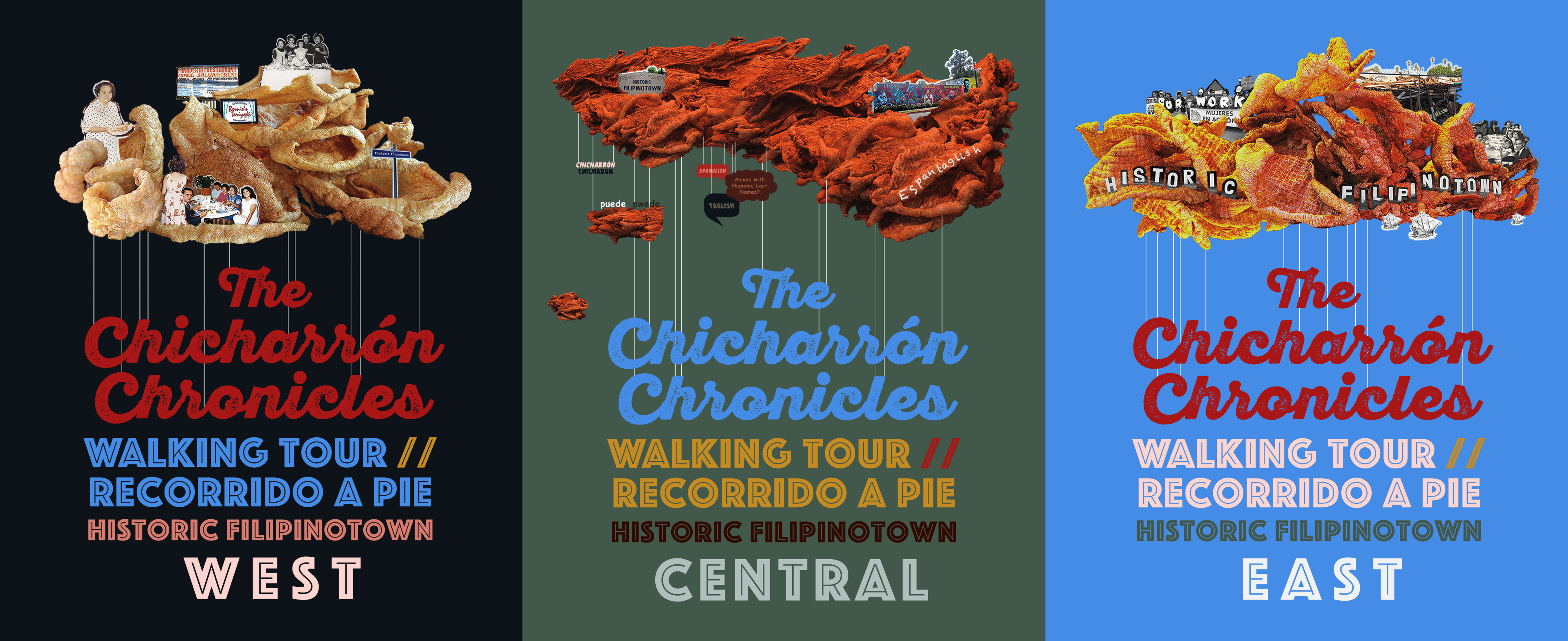 postcard image of the Chicharron Chronicles Walking Tours for West, Central, and East