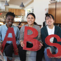All of the Urban Futures Lab Fellows after delivering our ABSTalk (L to R: Ashley Ajayi, Brisa Aviles, Sabrina Im).